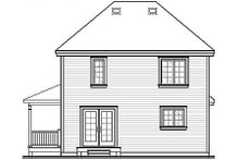 House Plan Design - Cottage Exterior - Rear Elevation Plan #23-489