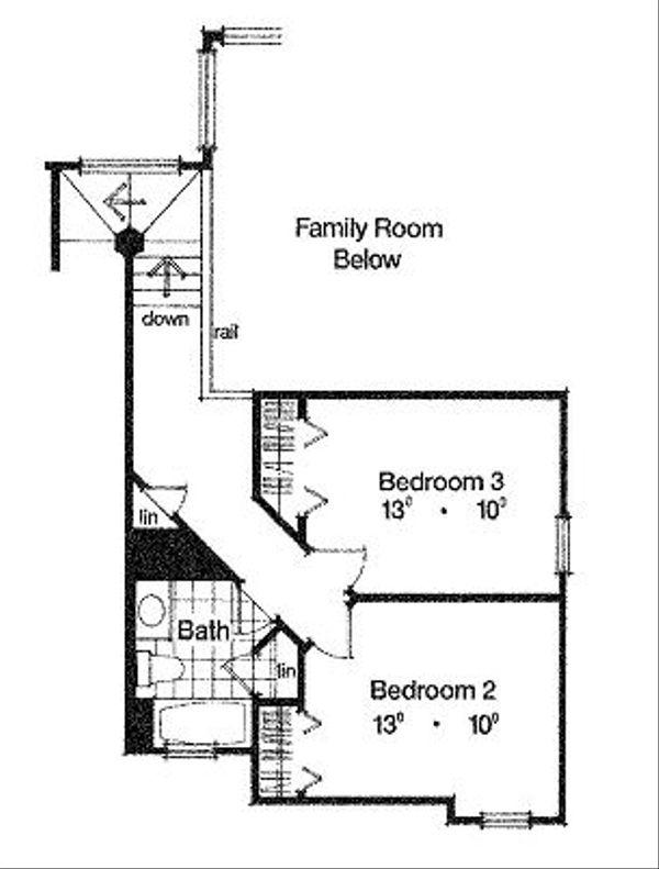 European Floor Plan - Upper Floor Plan Plan #417-173