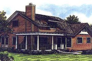 Craftsman Exterior - Front Elevation Plan #320-421