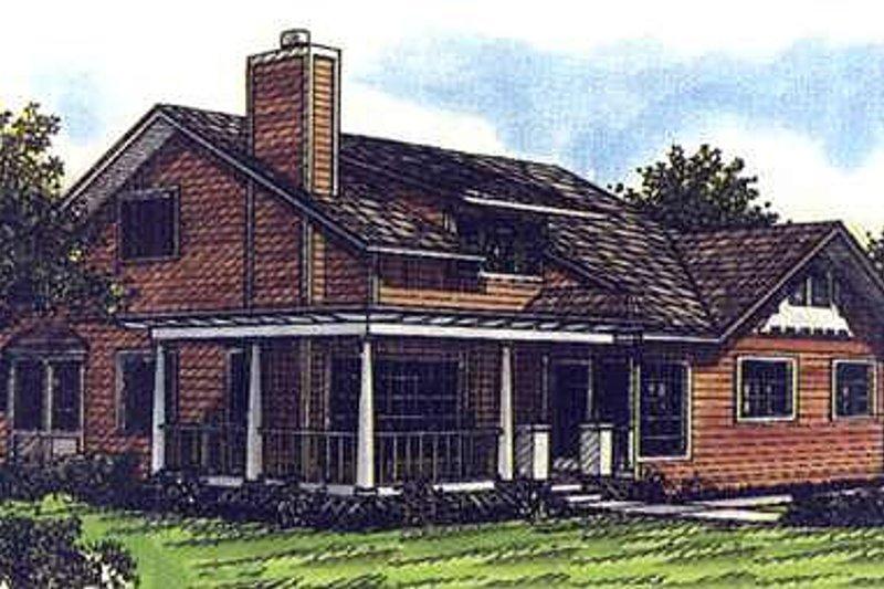 Craftsman Exterior - Front Elevation Plan #320-421
