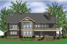 Dream House Plan - Craftsman Exterior - Rear Elevation Plan #48-242