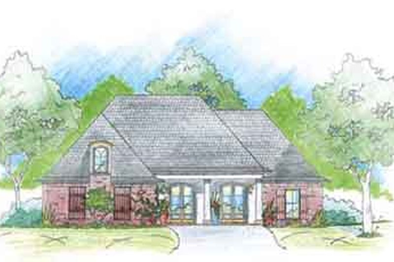 Southern Exterior - Front Elevation Plan #36-430