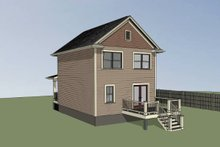 Dream House Plan - Cottage Exterior - Rear Elevation Plan #79-120
