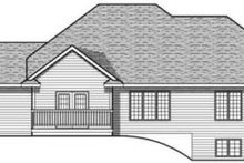 Home Plan - Traditional Exterior - Rear Elevation Plan #70-610