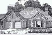Colonial Style House Plan - 4 Beds 2 Baths 1917 Sq/Ft Plan #310-788 Exterior - Front Elevation