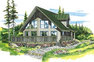 Modern Exterior - Front Elevation Plan #47-316