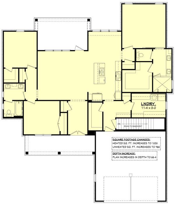 Architectural House Design - Farmhouse Floor Plan - Other Floor Plan #430-250