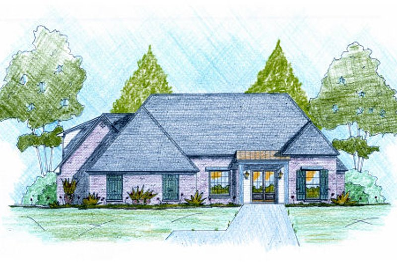European Exterior - Front Elevation Plan #36-501