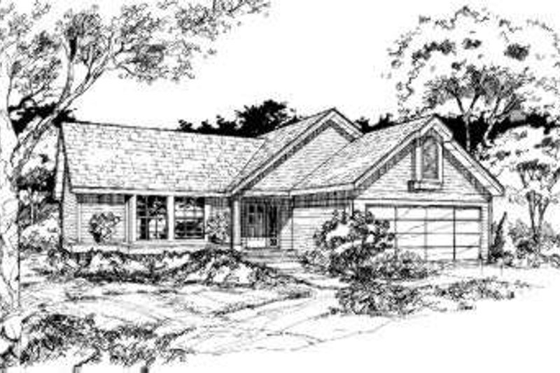 Traditional Style House Plan - 3 Beds 2 Baths 1146 Sq/Ft Plan #320-120 Exterior - Front Elevation