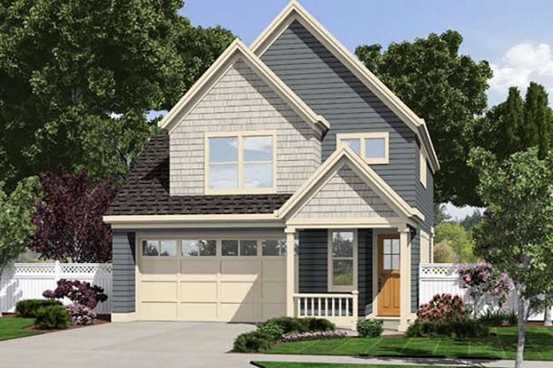 Country Exterior - Front Elevation Plan #48-500