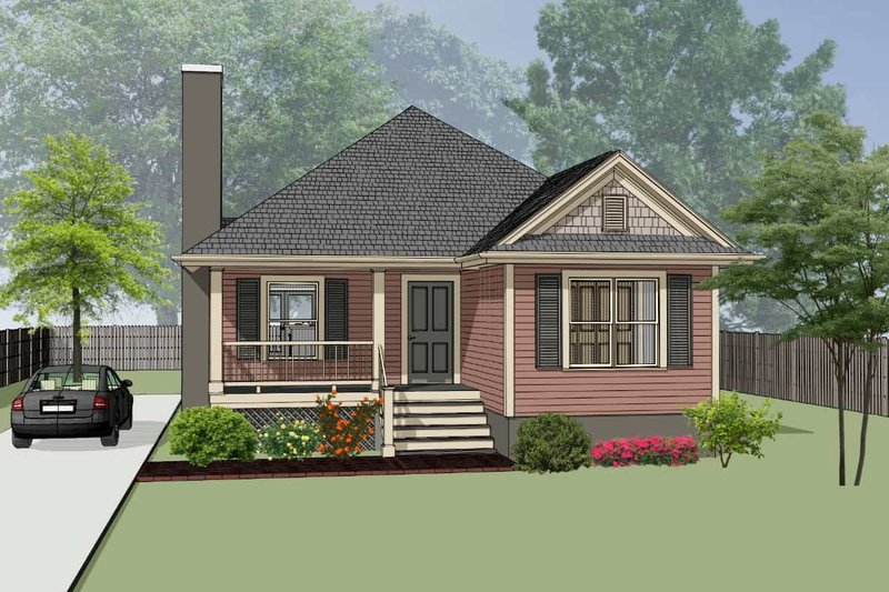 Home Plan - Traditional Exterior - Front Elevation Plan #79-160
