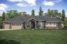 Craftsman Exterior - Front Elevation Plan #124-1167