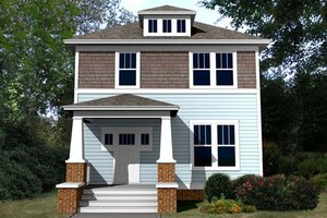 Architectural House Design - Craftsman Exterior - Front Elevation Plan #461-5