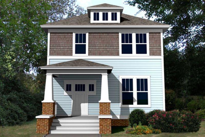 Architectural House Design - Craftsman Exterior - Front Elevation Plan #461-5