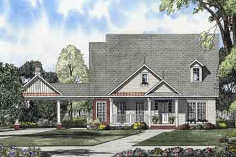 House Plan Design - Country Exterior - Front Elevation Plan #17-2112