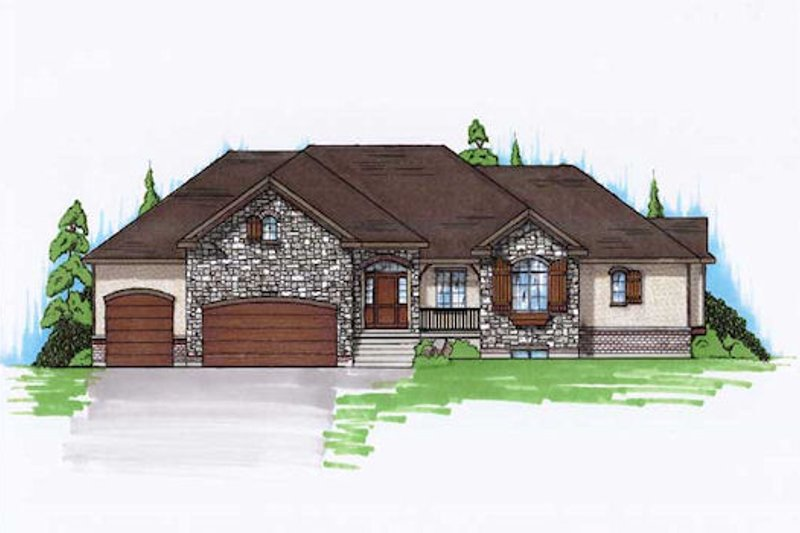 House Plan Design - Traditional Exterior - Front Elevation Plan #5-354