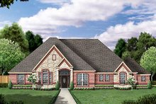 Home Plan - European Exterior - Front Elevation Plan #84-258