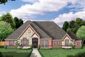 European Exterior - Front Elevation Plan #84-258