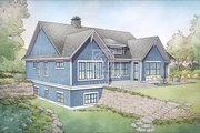 Farmhouse Style House Plan - 4 Beds 4 Baths 3409 Sq/Ft Plan #928-328 Exterior - Rear Elevation