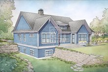 Farmhouse Exterior - Rear Elevation Plan #928-328