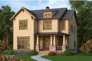 Country Exterior - Front Elevation Plan #419-303
