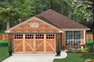 Country Exterior - Front Elevation Plan #84-637