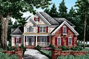 Country Style House Plan - 4 Beds 3 Baths 2163 Sq/Ft Plan #927-8 Exterior - Front Elevation