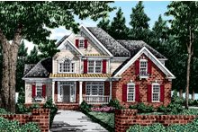 House Design - Country Exterior - Front Elevation Plan #927-8