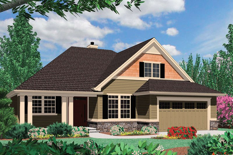 Craftsman Style House Plan - 3 Beds 2.5 Baths 2074 Sq/Ft Plan #48-163