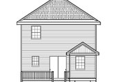 Traditional Style House Plan - 4 Beds 3 Baths 1524 Sq/Ft Plan #515-22 Exterior - Rear Elevation
