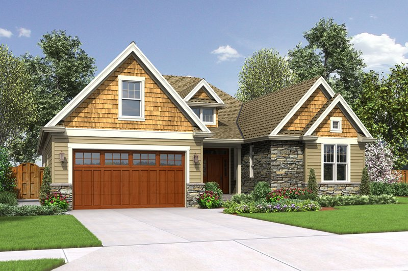 Craftsman Style House Plan - 4 Beds 2.5 Baths 2203 Sq/Ft Plan #48-662 Exterior - Front Elevation