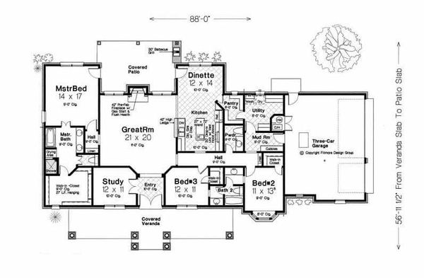 Traditional Floor Plan - Main Floor Plan Plan #310-960
