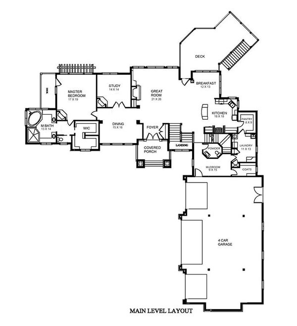 Traditional Floor Plan - Main Floor Plan #921-5