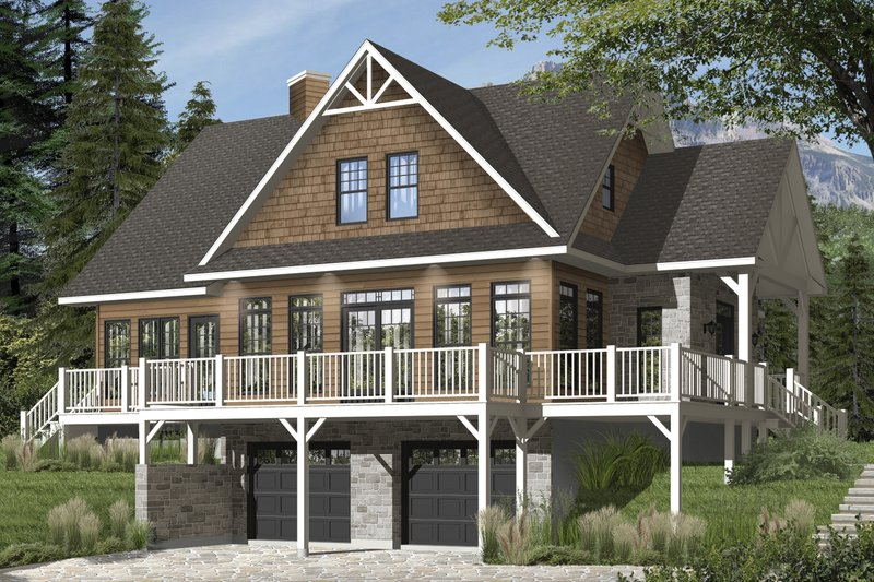 House Plan Design - European Exterior - Front Elevation Plan #23-2627