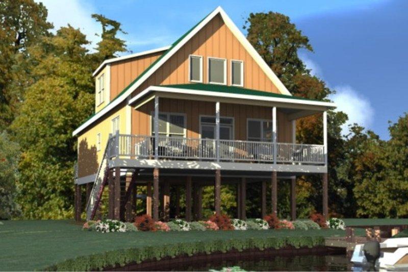 Cottage Exterior - Front Elevation Plan #63-354