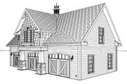 Craftsman Style House Plan - 1 Beds 1 Baths 838 Sq/Ft Plan #56-553 Exterior - Other Elevation