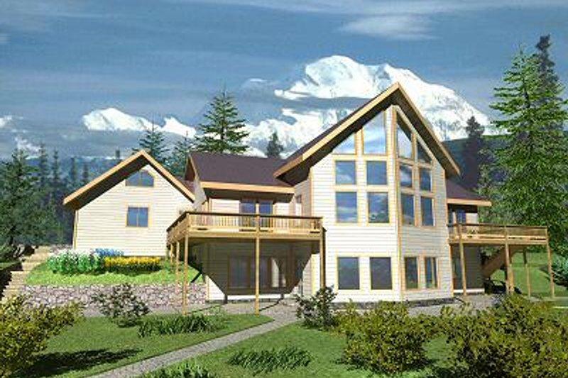 Contemporary Exterior - Front Elevation Plan #117-519 - Houseplans.com