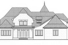 European Exterior - Rear Elevation Plan #413-123
