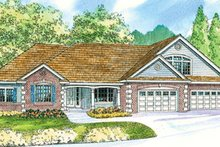Country Exterior - Front Elevation Plan #124-667