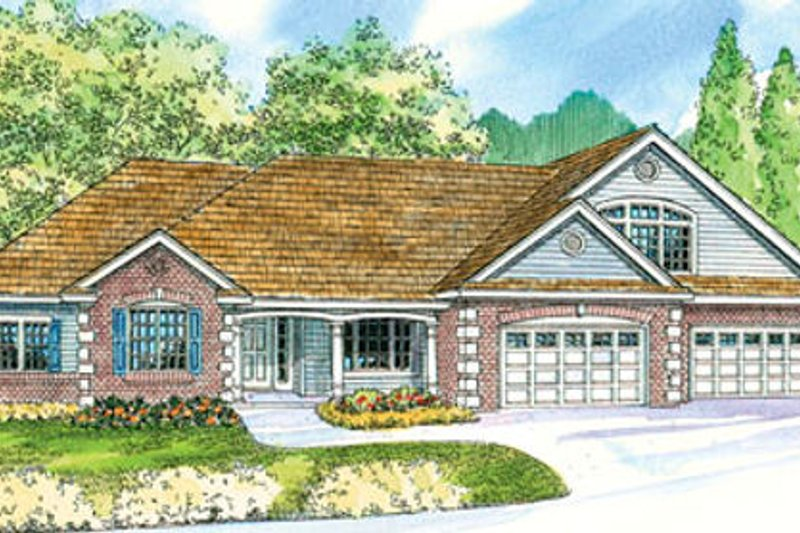 Country Exterior - Front Elevation Plan #124-667 - Houseplans.com
