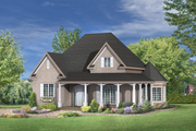 European Style House Plan - 2 Beds 1 Baths 1375 Sq/Ft Plan #25-4800 Exterior - Front Elevation