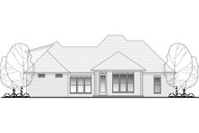 House Design - European Exterior - Rear Elevation Plan #430-107
