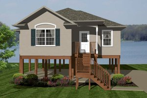 European Exterior - Front Elevation Plan #14-242