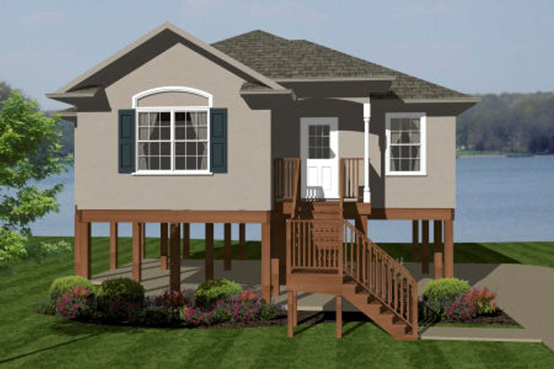 Home Plan - European Exterior - Front Elevation Plan #14-242