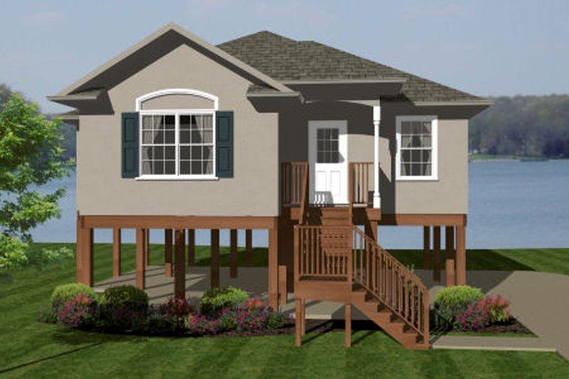 European Style House Plan - 2 Beds 2 Baths 1013 Sq/Ft Plan #14-242