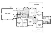 European Style House Plan - 3 Beds 2 Baths 2100 Sq/Ft Plan #417-192 Floor Plan - Main Floor Plan