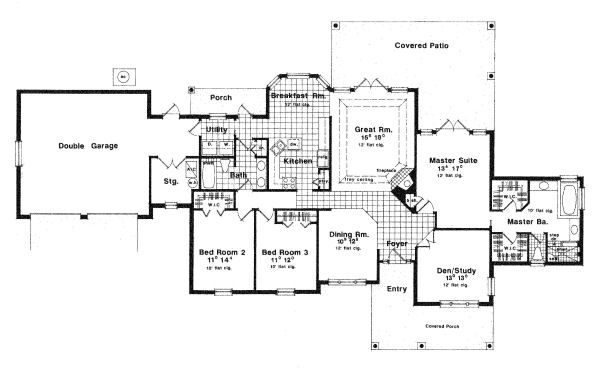 European Floor Plan - Main Floor Plan Plan #417-192