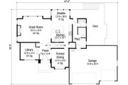 Traditional Style House Plan - 3 Beds 2.5 Baths 2574 Sq/Ft Plan #51-416 Floor Plan - Main Floor Plan