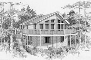 Modern Exterior - Front Elevation Plan #112-104