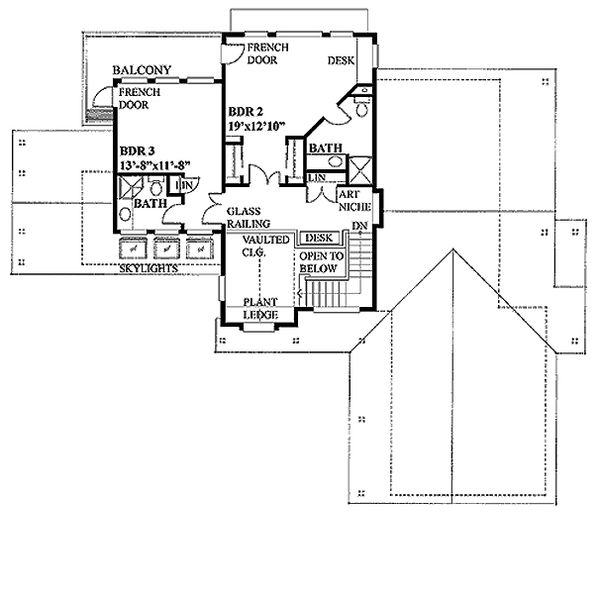 Farmhouse Floor Plan - Upper Floor Plan Plan #118-121